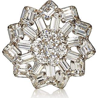 Womens White Crystal & Imitation-Pearl Brooch Stazia Loren