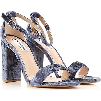 Sandals for Women On Sale, Sky Blue, Velvet, 2017, 3.5 4.5 5.5 6 6.5 7.5 Steve Madden