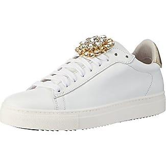 Sneaker, Zapatillas para Mujer, Blanco (Bianco/Oro), 40 EU Stokton