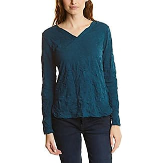 Street One Printed Round Bottom Shirt, Camiseta para Mujer, Blau (Night Blue 20109), 44 (Talla del Fabricante: 42)