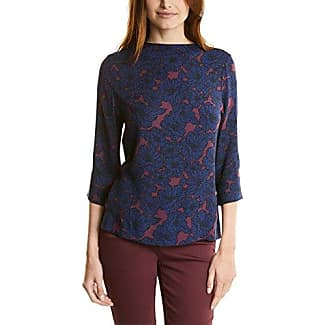 Street One Printed Mat Mix with Foil, Camiseta para Mujer, Blau (Night Blue 20109), 42 (Talla del Fabricante: 40)