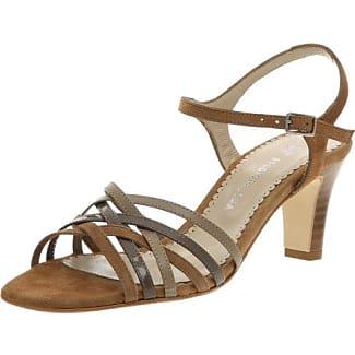 Unze Evening Sandals L18192W - Sandalias para mujer, color marrón, talla 39