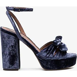 Tabitha Simmons Blue Jodie 115 velvet platform sandals - Pink & Purple farfetch bianco