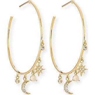 Tai Jewelry Celestial Crystal Charm Hoop Earrings