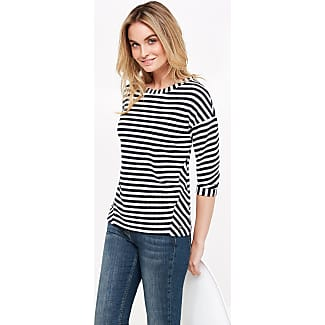 Top in striped, textured jersey blue female Taifun