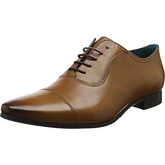 Ted Baker Deelani, Zapatos de Cordones Brogue para Hombre, Rojo (Dark Red), 45 EU