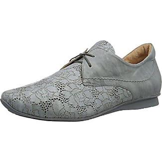 Think Chilli, Zapatos de Cordones Derby Para Mujer, Gris (Stahl 07), 40.5 EU