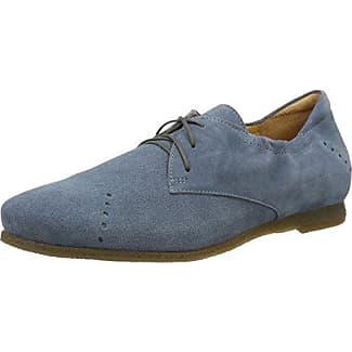 Think Guad_282283, Zapatos de Cordones Brogue para Mujer, Azul (Lagune/Kombi 79), 41.5 EU