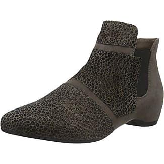 Think GUAD - Zapatillas de caña alta de cuero mujer, color negro, talla 36.5