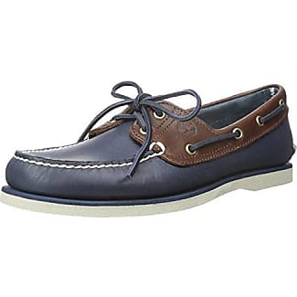 Mens Classic Boat 2 Eyevintage Indigo and Potting Soil Two-Tone Shoes Timberland