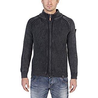 Jacket, Chaqueta Punto para Hombre, Schwarz (Black Anthra Melange 8000), Medium Timezone
