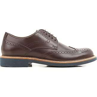 Brogue Shoes On Sale, Dark Brown, Leather, 2017, 10 6 7 7.5 8 8.5 9 9.5 Tod's
