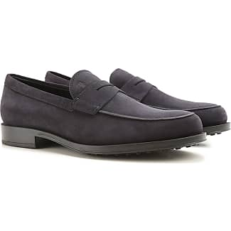 Driver Loafer Shoes for Men On Sale, Avio Blue, Suede leather, 2017, 5 6 6.5 7 8.5 9 9.5 Tod's