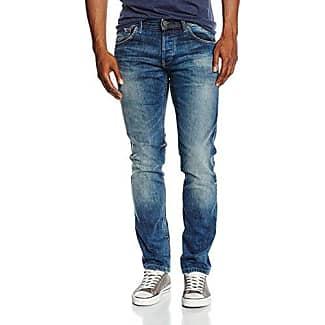 Tom Tailor Denim Jona 2 Button Rinse, Jeans Ajustados para Mujer, Azul (Raw Denim 1050), W29/L30