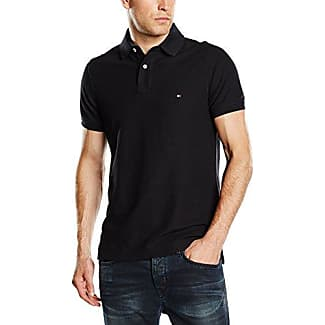 Tommy Hilfiger 867878433060 - Polo - Uni - Manches Courtes - Homme - Noir (New Black) - XX-Large (Taille Fabricant: XXL)