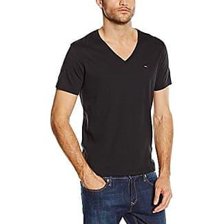 T-shirt homewear col intérieur emblème Noir Tommy HilfigerTommy Hilfiger