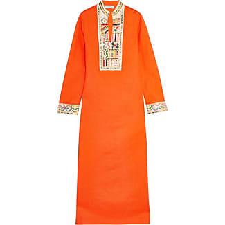 Kleid leinen orange
