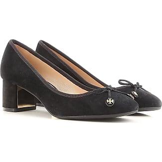 Zapatos de Tacón de Salón Baratos en Rebajas, Negro, Gamuza, 2017, 38 38.5 Tory Burch