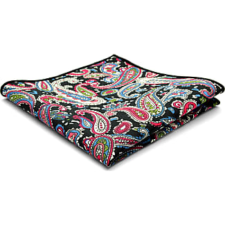 Blue & Red Paisley Pocket Square Trendhim