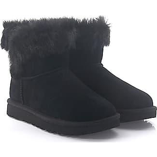 UGG Stiefeletten Boots MILLA Veloursleder schwarz Lammfell