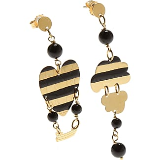 Earrings for Women, Black, Silk, 2017, One Size Uomolebole