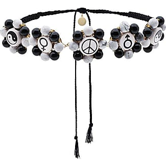 Multi Charm Necklace - Black Venessa Arizaga