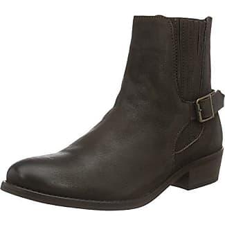 Vmjeanet Leather Boot, Zapatillas de Estar por Casa para Mujer, Negro (Black), 37 EU Vero Moda