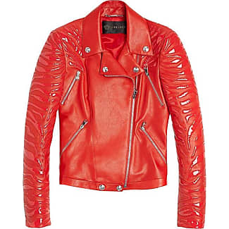 Faux leather motorcycle jacket safety