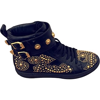 Pre-owned - Leather trainers Versace