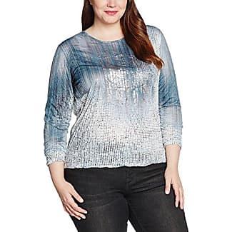 Via Appia Due T-Shirt Rundhals 3/4 Arm Mit Schmuckblättchen, Camiseta para Mujer, Azul (Marine 810), 54
