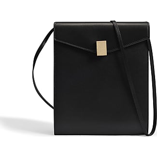 Victoria Beckham Postino Bag in Black Calf Leather Stamp Croco