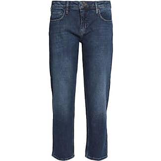 Victoria, Victoria Beckham Woman Faded High-rise Slim-leg Jeans Dark Denim Size 26 Victoria Beckham