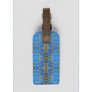 VIDA Leather Accent Tag - BLUE DOLPHIN TAG by VIDA