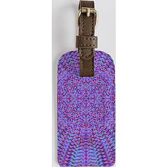 Leather Accent Tag - Purple Bougainvilleas by VIDA VIDA