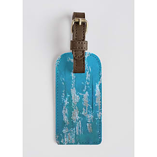 VIDA Leather Accent Tag - baby green by VIDA