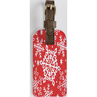 Leather Accent Tag - SNOW FLAKES by VIDA VIDA