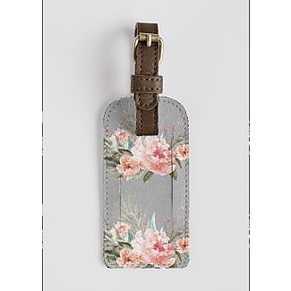 Leather Accent Tag - dress and flowers by VIDA VIDA