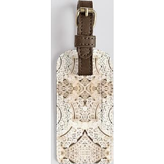 Leather Accent Tag - Tag with lace BW by VIDA VIDA