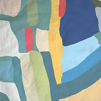 Silk Square Scarf - Abstract Sun by VIDA VIDA