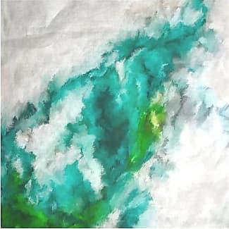 Silk Square Scarf - CLOUD BLUE SILK SQUARE by VIDA VIDA