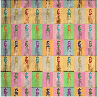 Mens Cotton Pocket Square - Globeville Mens Cotton Sq by VIDA VIDA