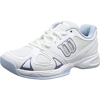 Wilson Nvision Carpet WH Zapatillas de Tenis, Hombre, Blanco (White/White/Pearl Gray Wil), 41 EU