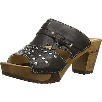 Alessia - Zuecos para mujer, color schwarz (schwarz), talla 36 Woody