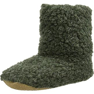 Woolsies Aconca Natural Wool Slipper Booties - Zapatillas con Forro Cálido para Hombre, Marrone (Latte Brown), Talla 36