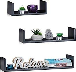 wandregale in schwarz 40 produkte sale bis zu 30 stylight. Black Bedroom Furniture Sets. Home Design Ideas