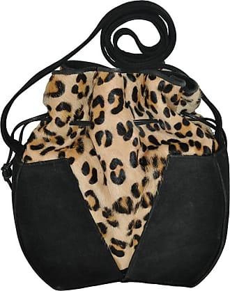 1stdibs Gino Black Suede & Leopard Print Stamped Pony-skin Hobo Shoulder Bag BP9U6ZGl