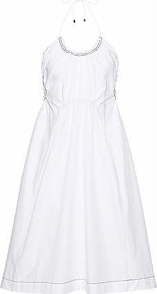 3.1 Phillip Lim Woman Gathered Cotton-poplin Mini Dress White Size 8 3.1 Phillip Lim hq9hnEPVa