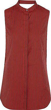 3.1 Phillip Lim Woman Knotted Striped Cotton And Silk-blend Dress Tomato Red Size 8 3.1 Phillip Lim 1jOrlmVSR3