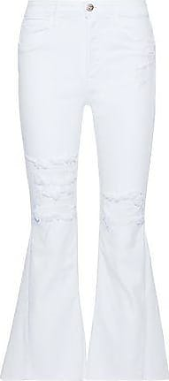 Woman Higher Ground Gusset High-rise Kick-flare Jeans White Size 23 3x1 mdo0u