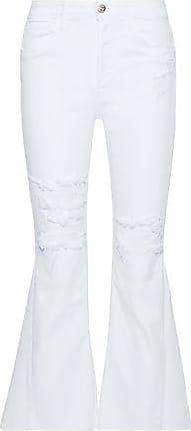 Femme Plus Des Jeans Kick-flare Grande Hauteur Gousset Sol Blanc Taille 23 3x1 ufghLKo
